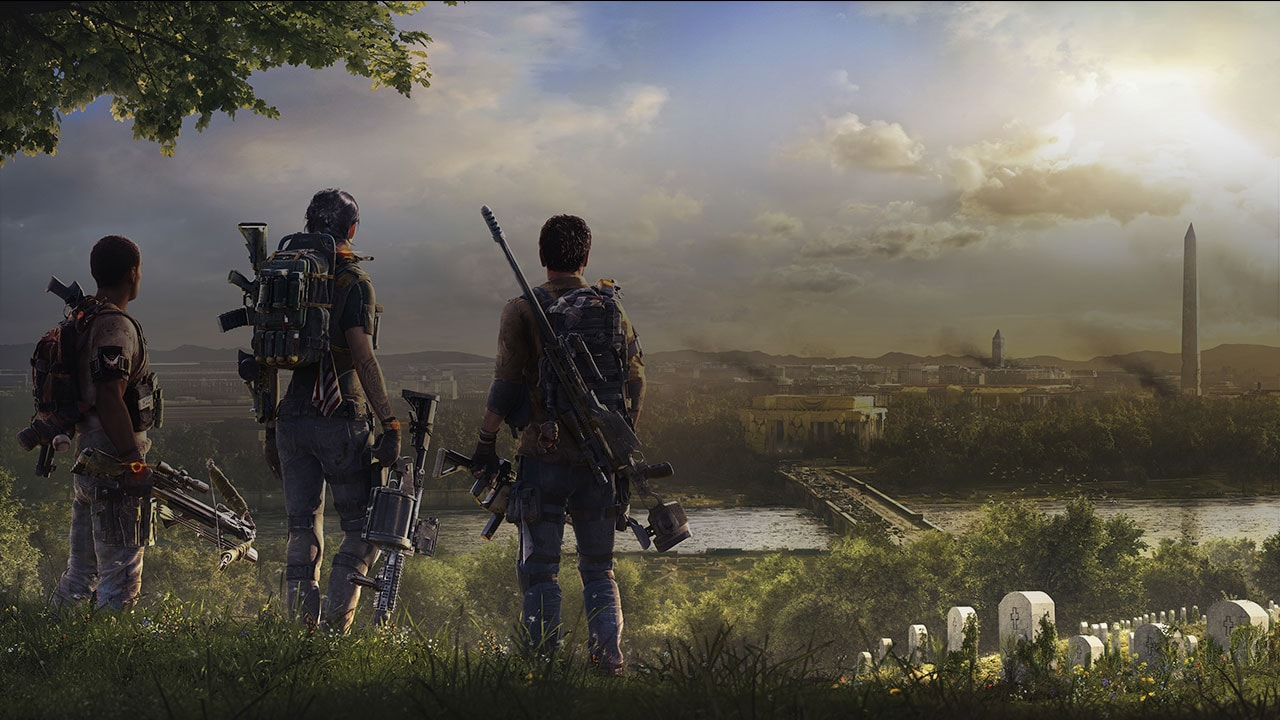 Image of characters staring at the division 2