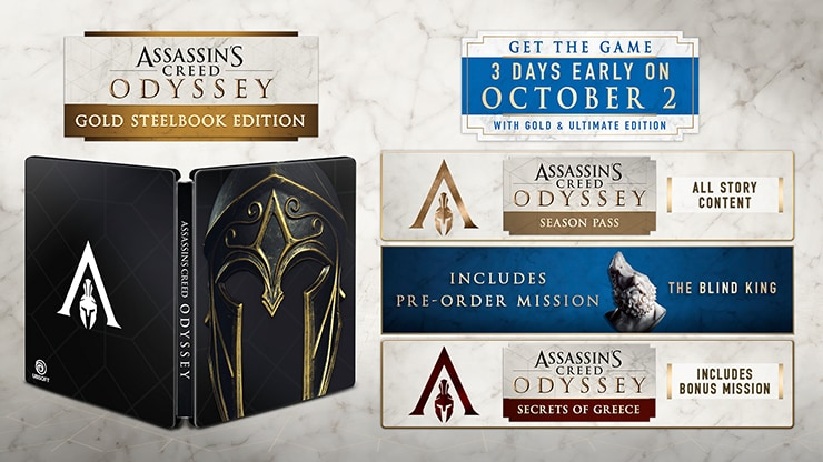 Get the Gold Edition and play the game 3 days early on October 2nd