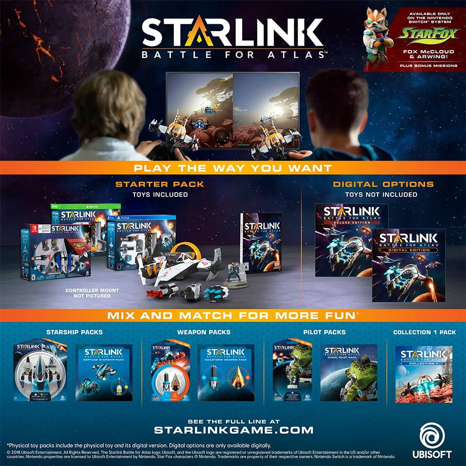 Can I play Starlink: Battle for Atlas without the modular toys (digital only)?