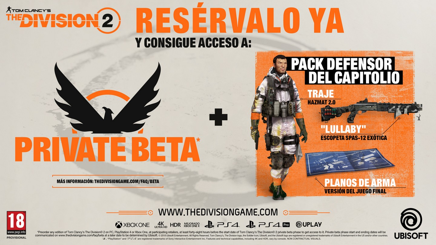 The Division 2 Pre-order offer