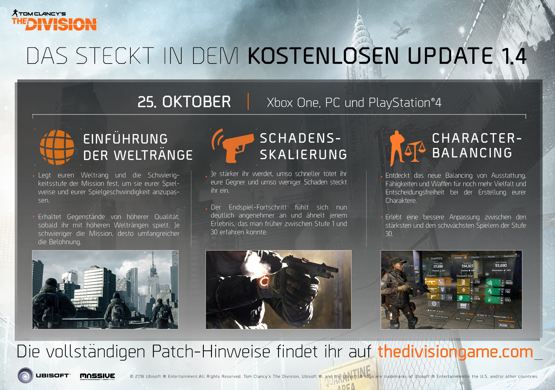 2016-10-25 [News] The Division Update 1