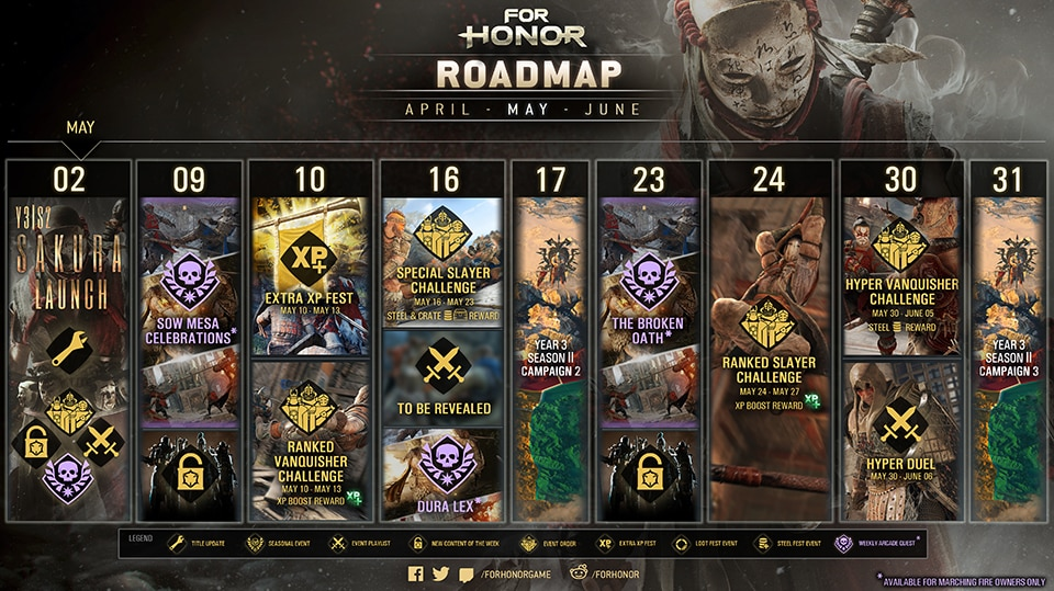 May 2019 Roadmap For Honor