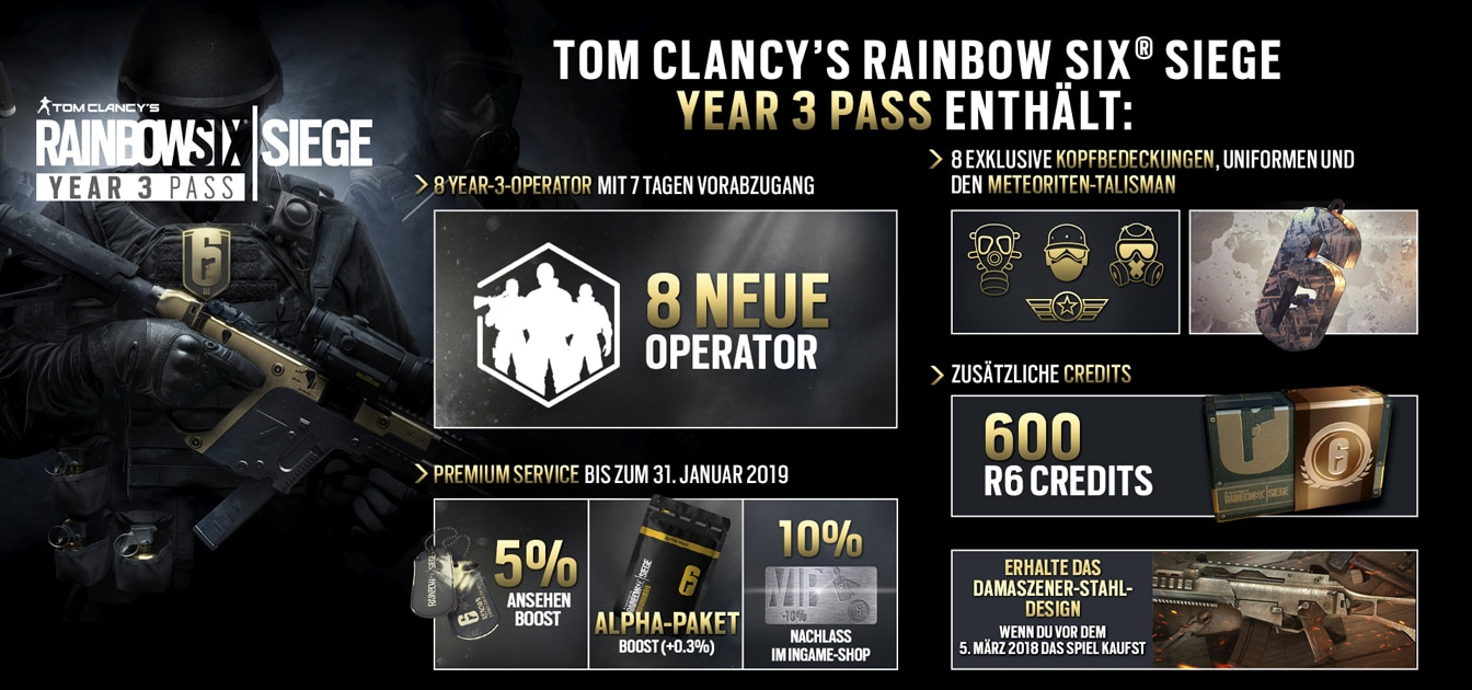 Rainbow Six - Year 3 Pass Content