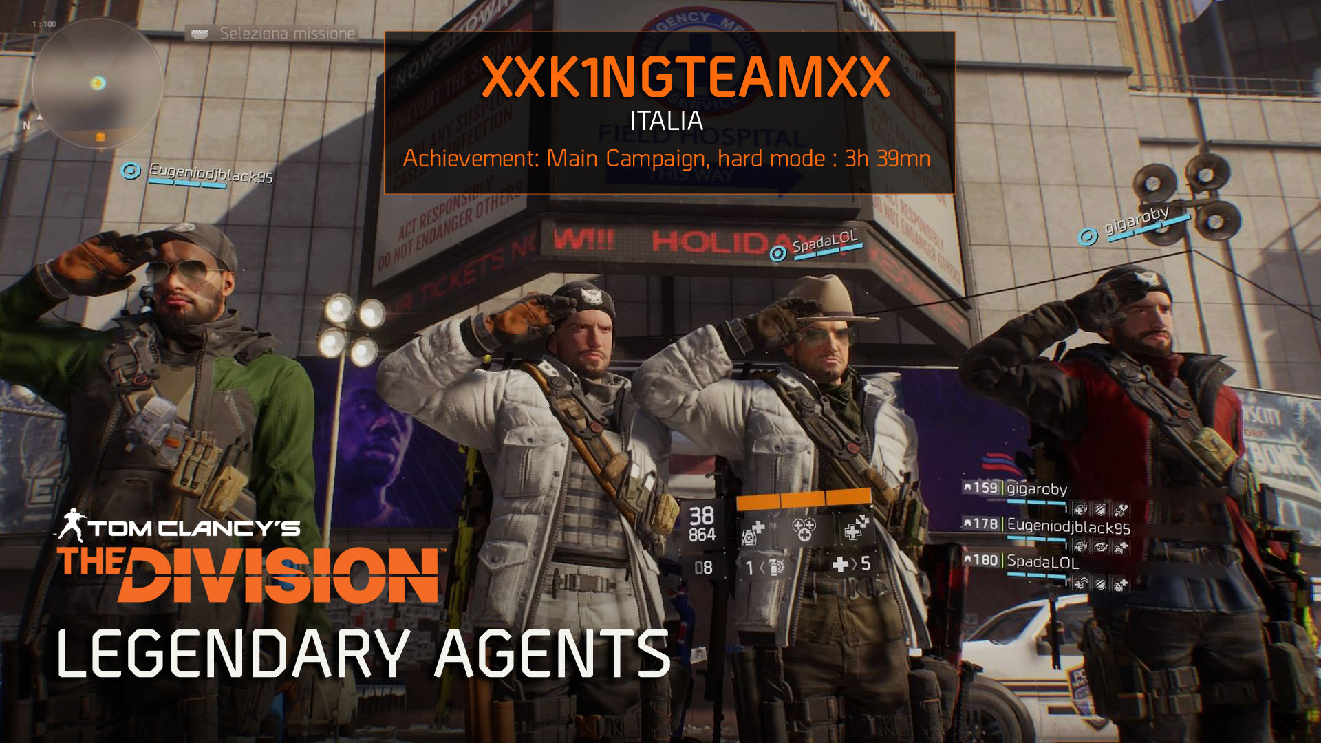 2016-04-26 [News] The Division - Legendary Agents – XxK1NGTEAMxX