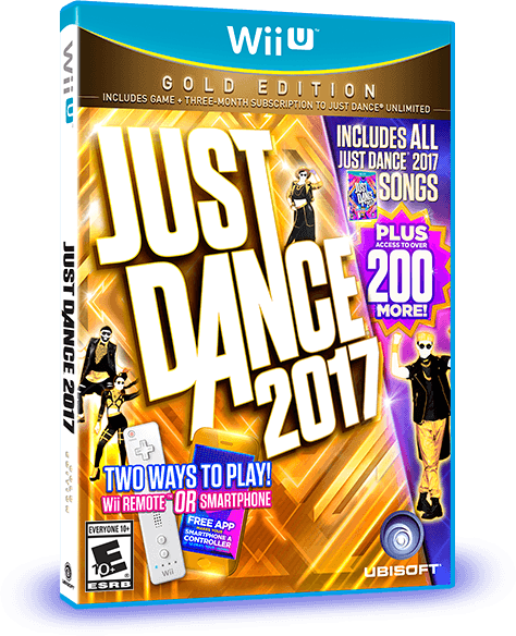 Just Dance 2017 Gold Edition Box