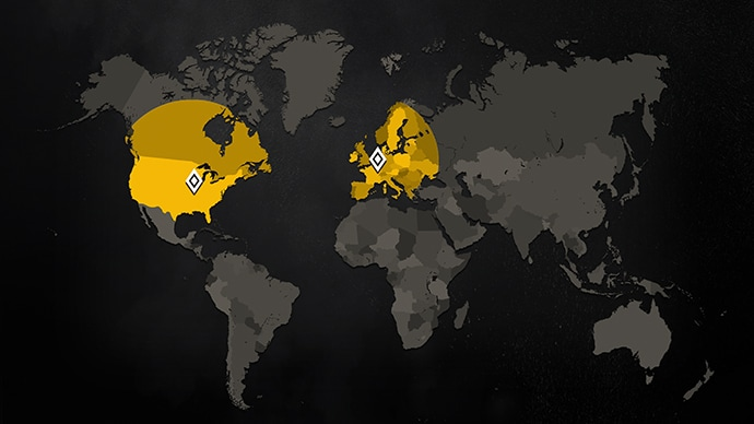 Rainbow 6 Closed Alpha - Geographic Location Participation Map