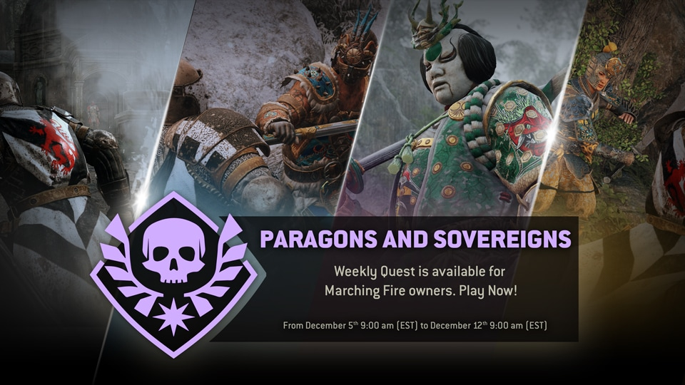 For-Honor_Paragons-and-Sovereins-WeeklyArcadeQuest_Dec