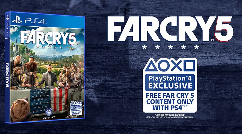 FREE FAR CRY 5 CONTENT ONLY WITH PS4™ | Far Cry 5 News & Updates