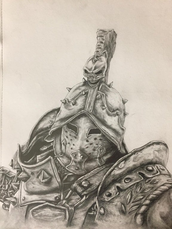 Lawbringer Pencil Drawing