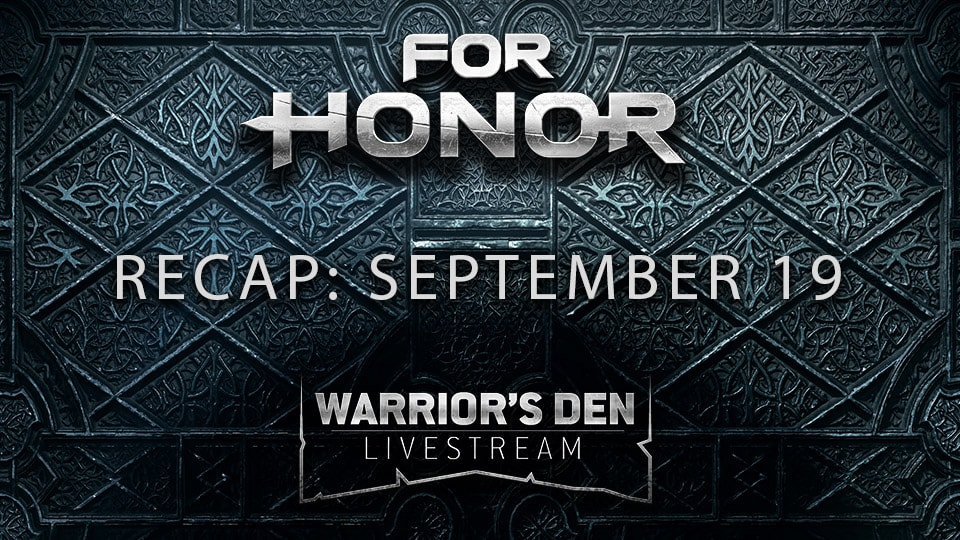 September 19 Warrior's Den Livestream Recap
