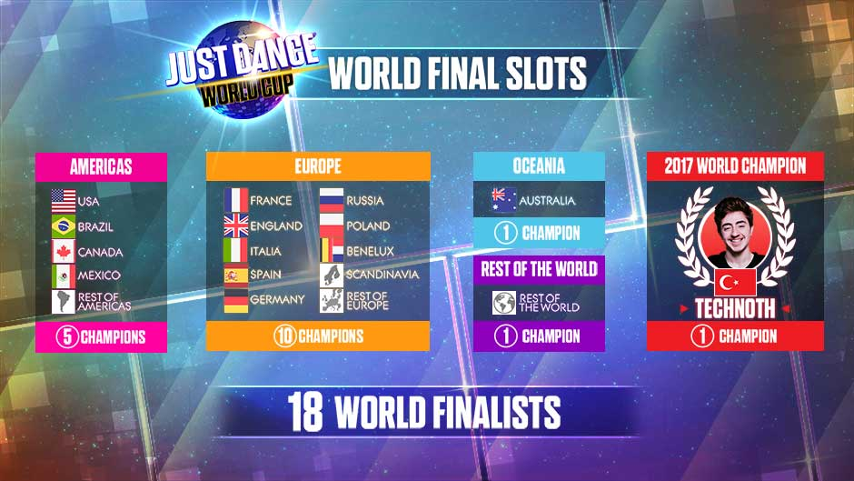 Just Dance World Cup Time Slots