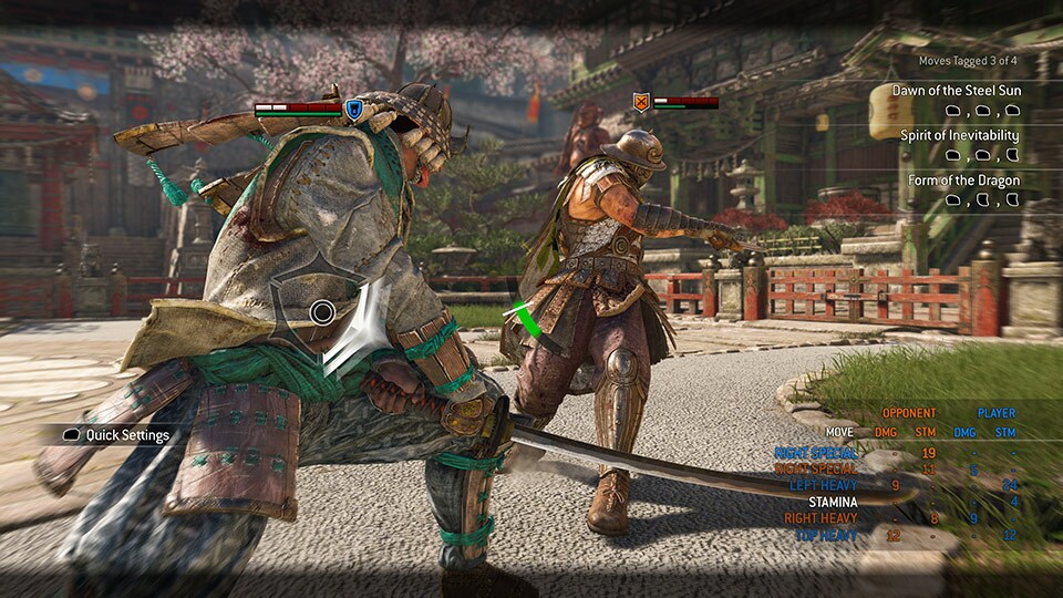 how to change parameters on for honor