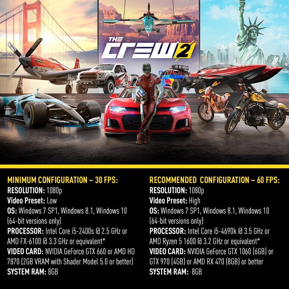 The Crew 2 PC Requirements Revealed | The Crew News & Updates
