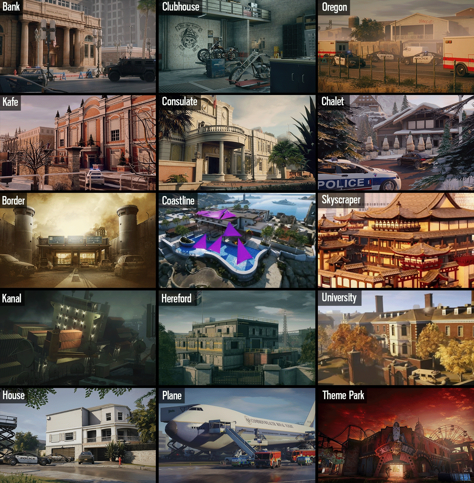 Changes To Map Rotations In Season Rainbow Six Siege Game - Us map without border game