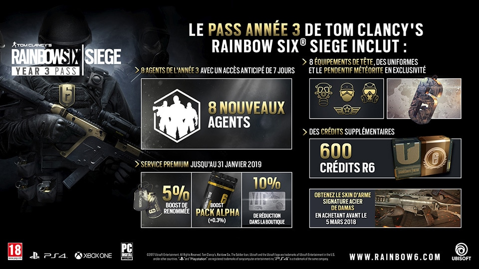Year 3 Pass Content - Rainbow Six Siege