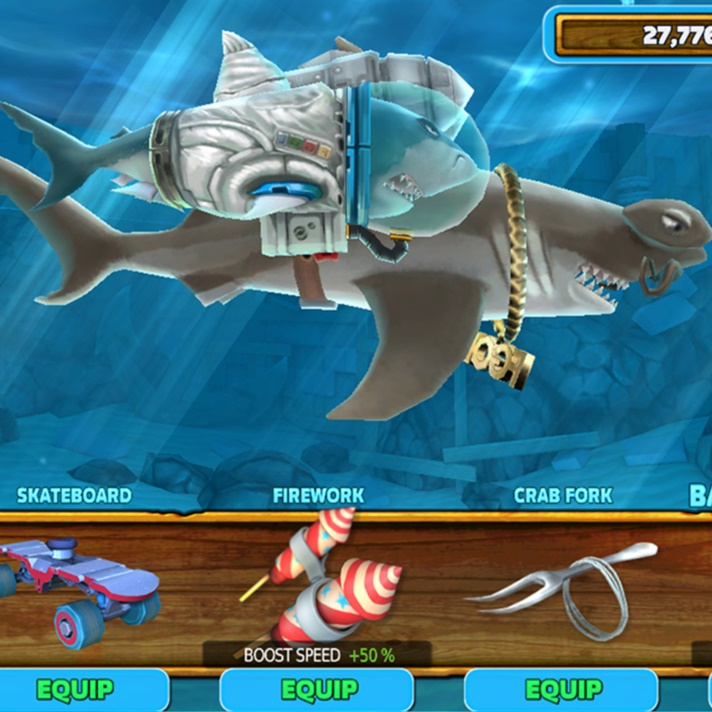 hungry shark evolution customise your shark screenshot