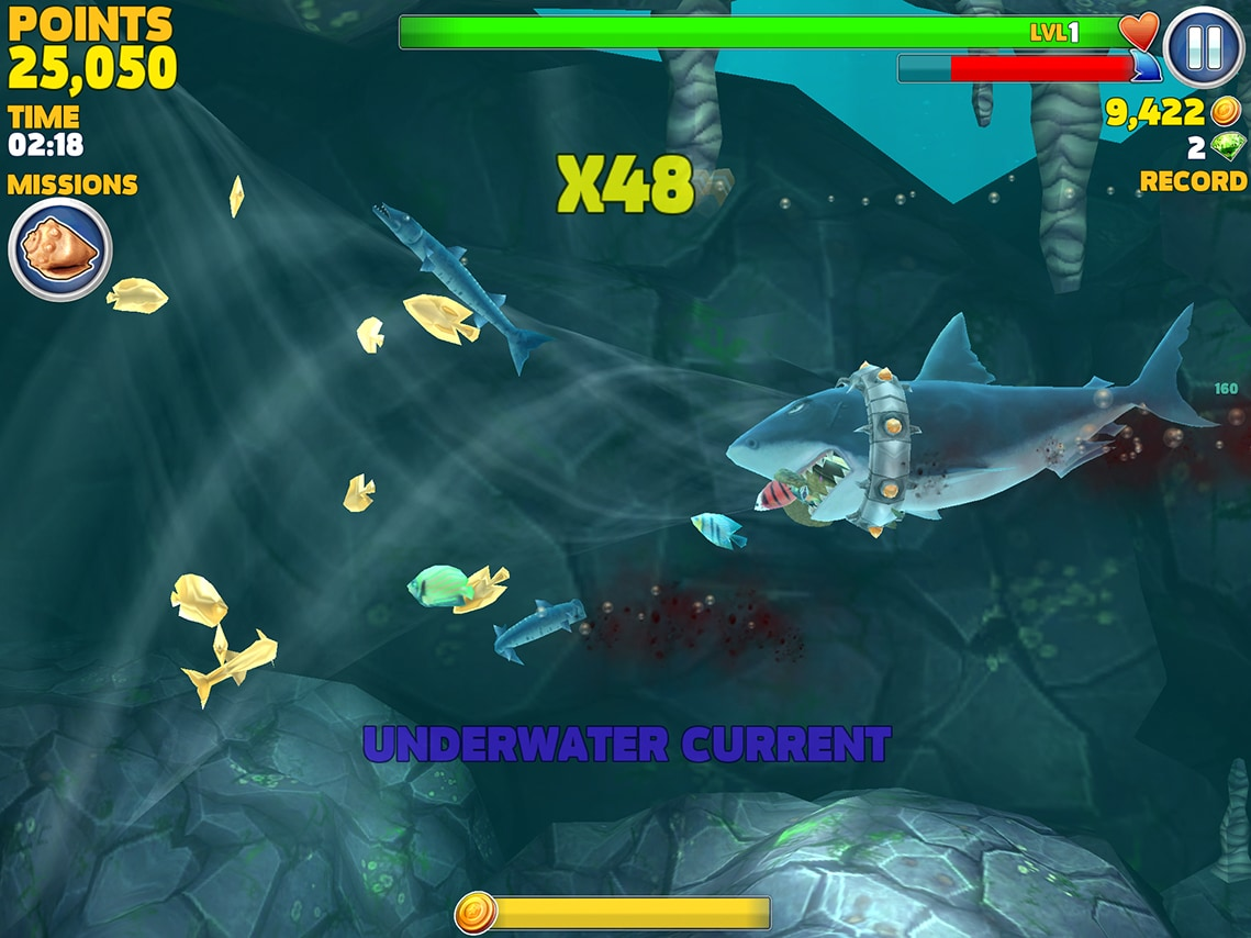 hungry shark evolution vortex screenshot